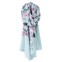 Buy Joules Wensley Poppy Flower Print Scarf, Cool Blue/Multi Online at johnlewis.com