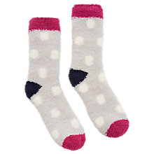 Buy Joules Fab Fluffy Spot Ankle Socks, Multi Online at johnlewis.com