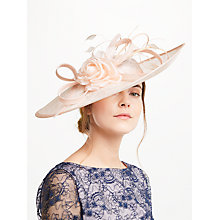 Buy John Lewis Andy Side Up Disc Flower Occasion Hat, Oyster Online at johnlewis.com