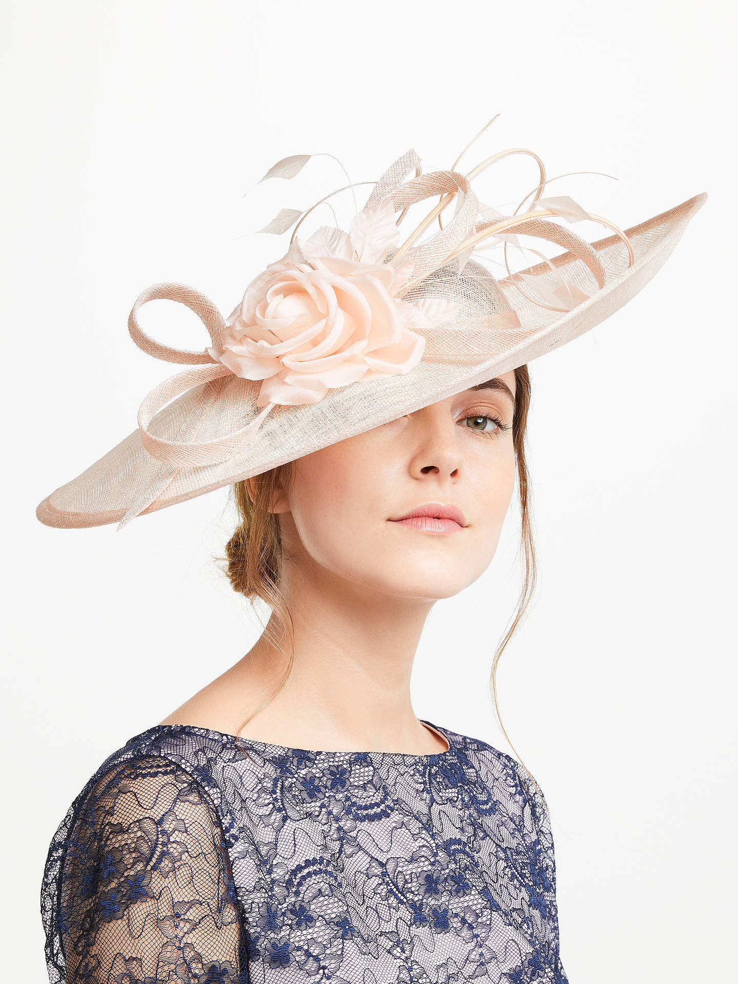 BuyJohn Lewis Andy Side Up Disc Flower Occasion Hat, Oyster Online at johnlewis.com
