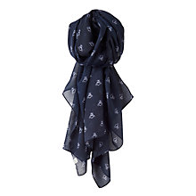 Buy Joules Wensley Bee Print Scarf, Navy Online at johnlewis.com