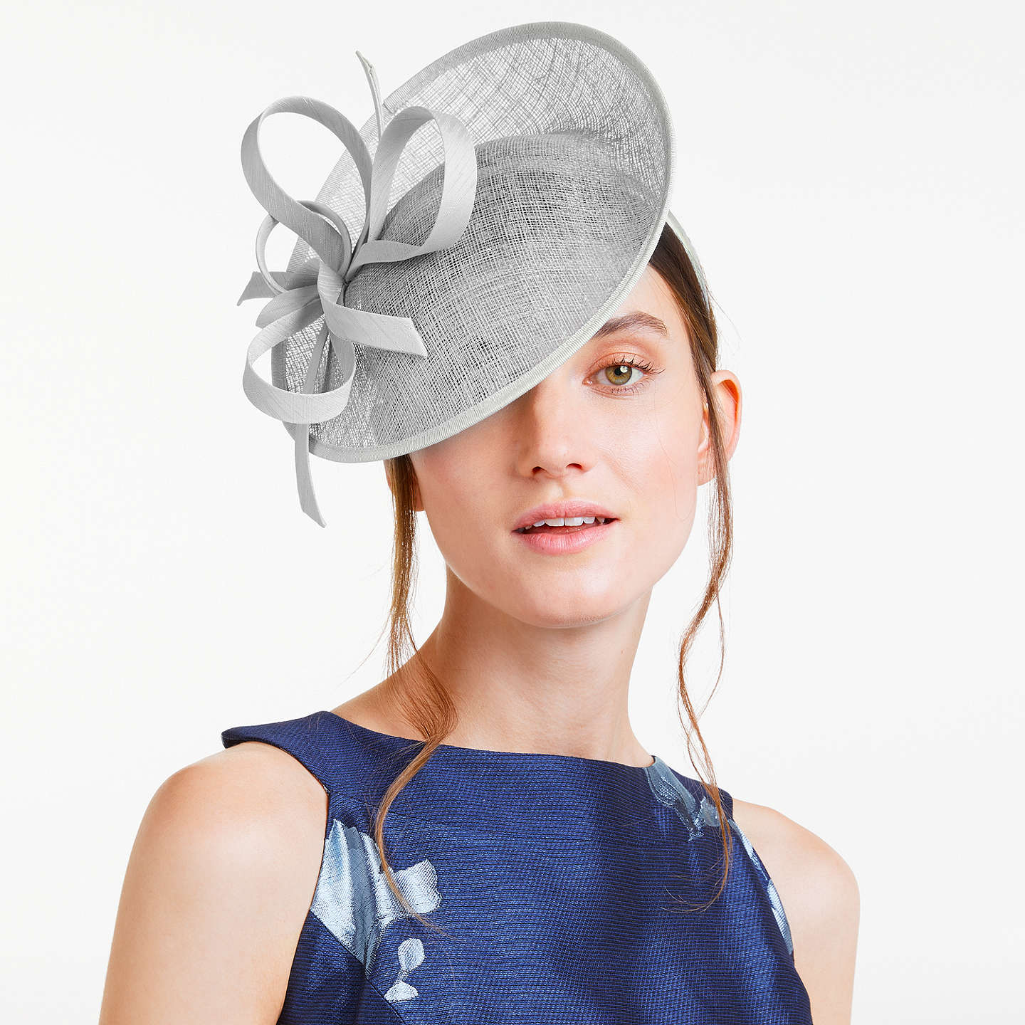 BuyJohn Lewis Bea Disc and Quill Occasion Hat, Silver Online at johnlewis.com
