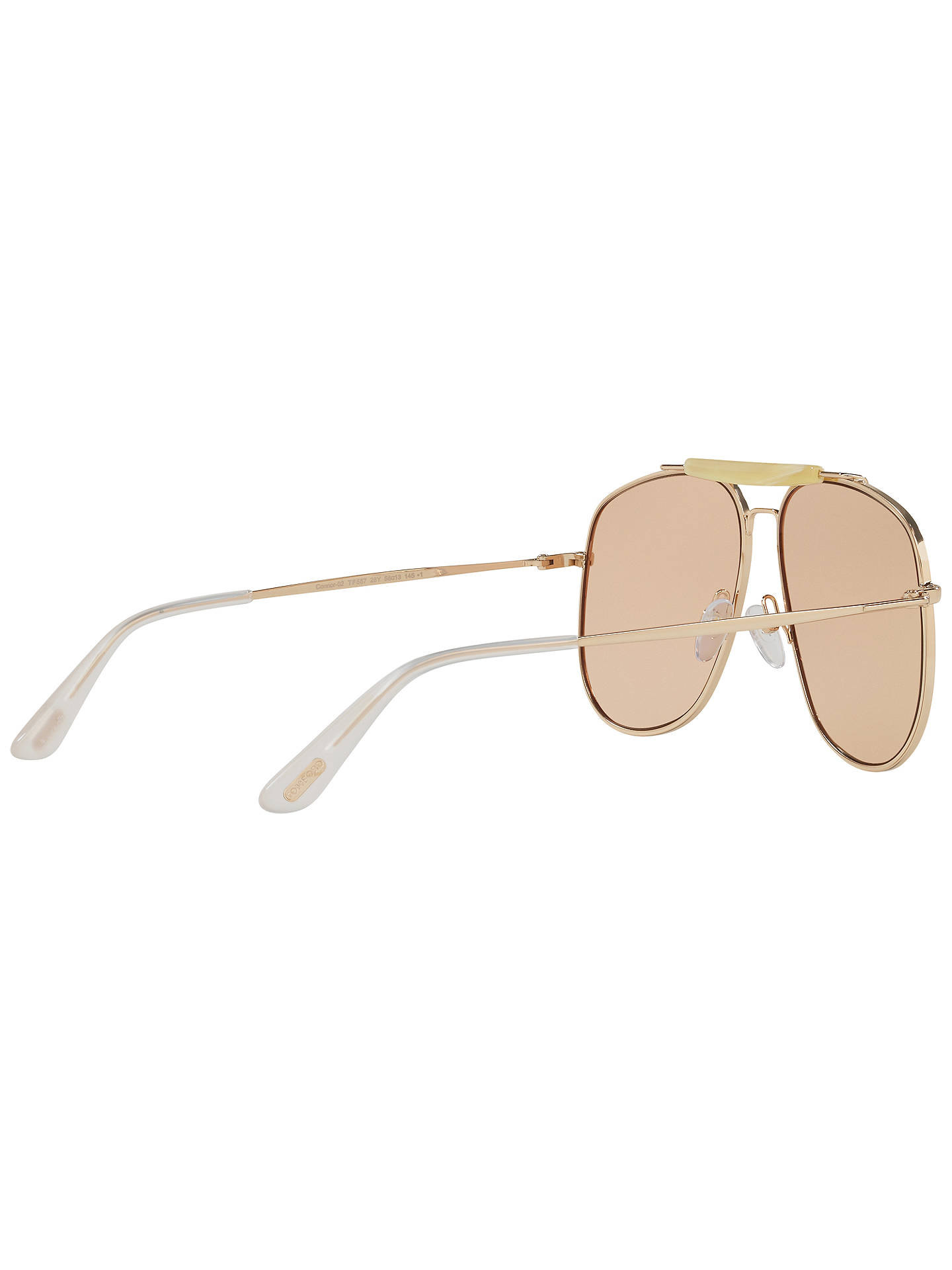 Buy TOM FORD FT0557 Connor Aviator Sunglasses, Gold/Beige Online at johnlewis.com