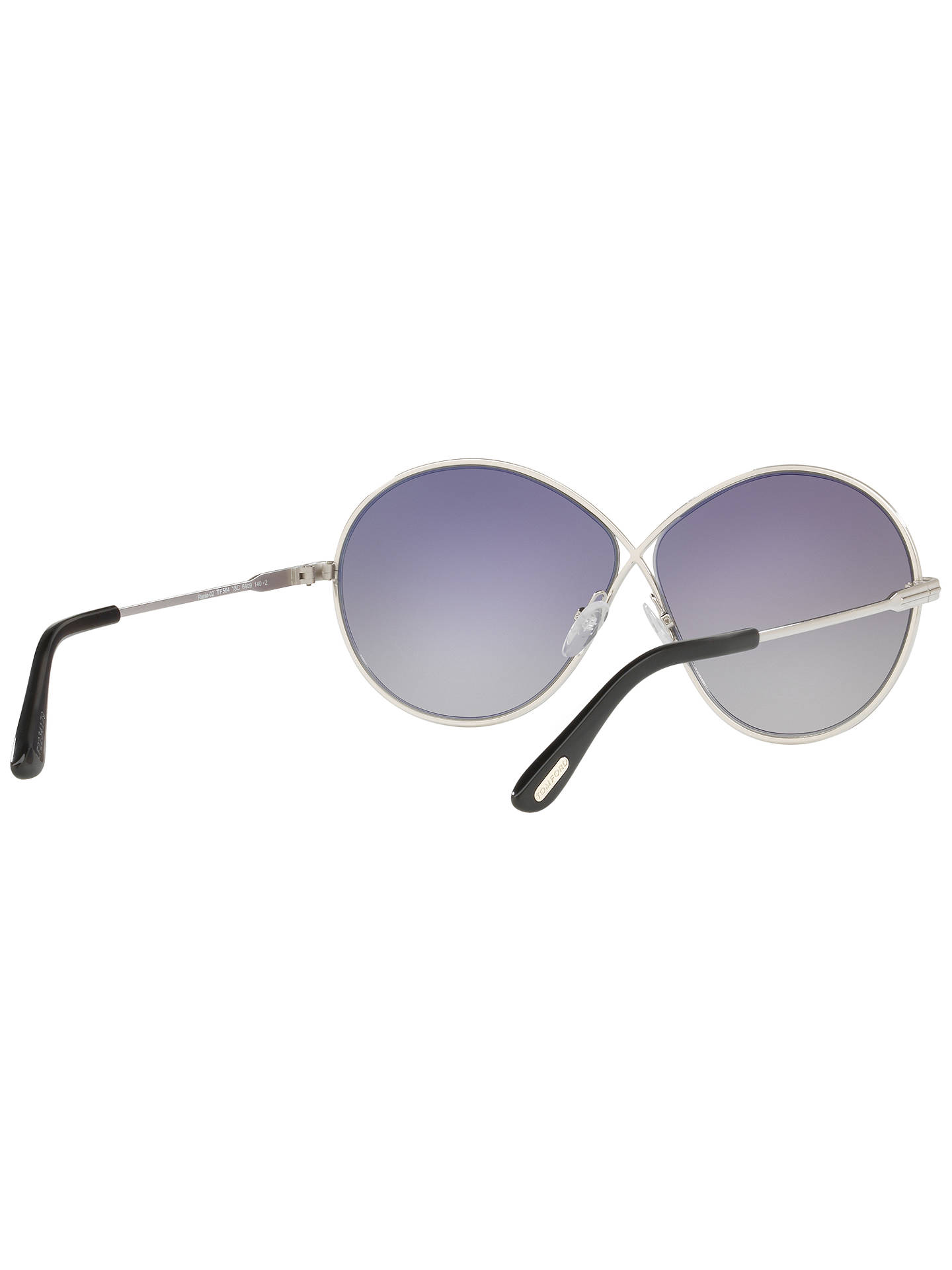 Buy TOM FORD FT0564 Rania-02 Oval Sunglasses, Silver/Mirror Grey Online at johnlewis.com