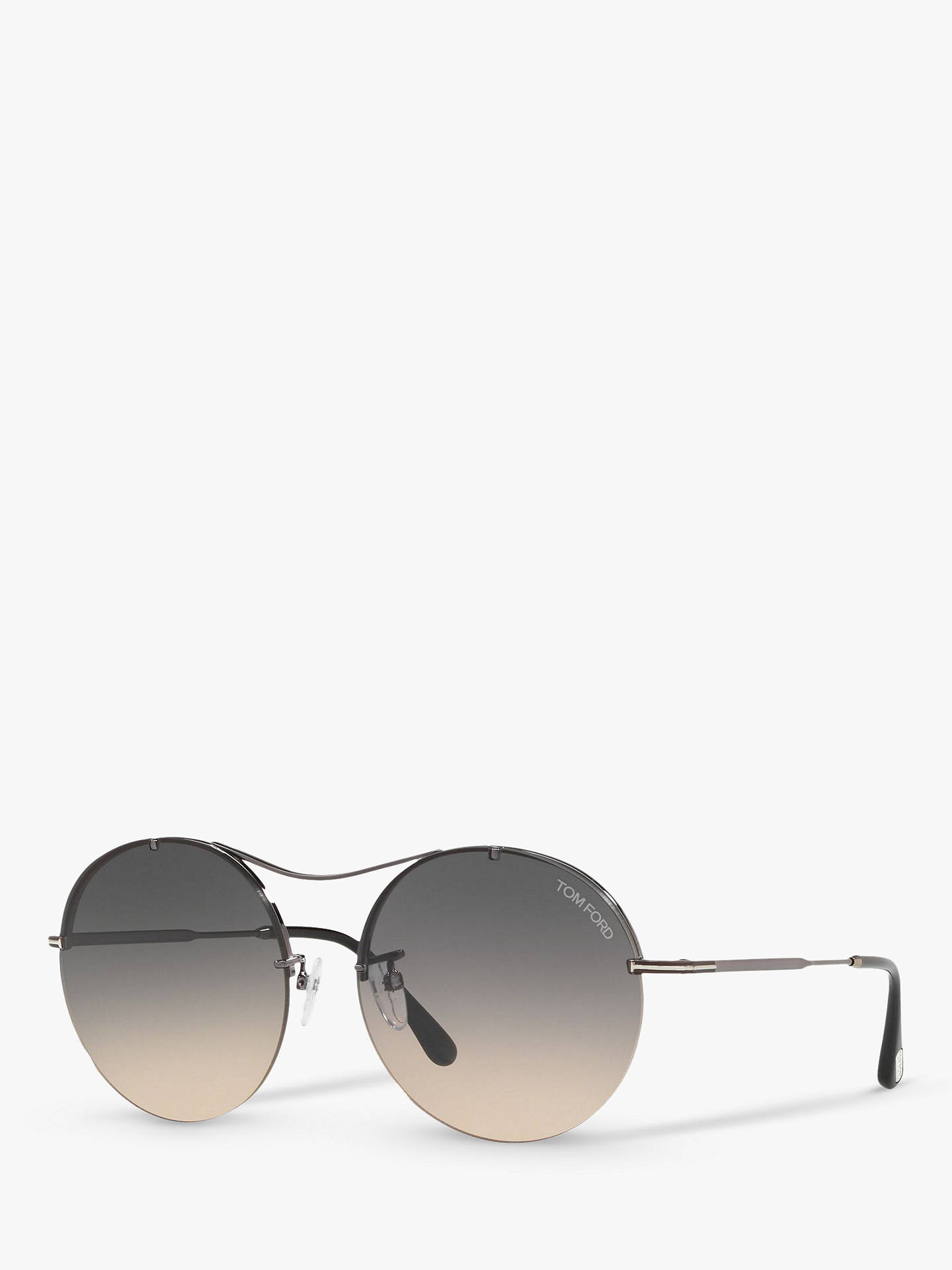 963133f47a TOM FORD FT0565 Veronique-02 Round Sunglasses at John Lewis   Partners