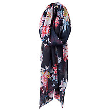 Buy Joules Wensley Whitstable Floral Print Scarf, Navy Mix Online at johnlewis.com