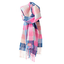 Buy Joules Bracken Check Pattern Scarf, Pink Mix Online at johnlewis.com
