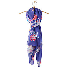 Buy Joules Wensley Whitstable Floral Print Scarf Online at johnlewis.com