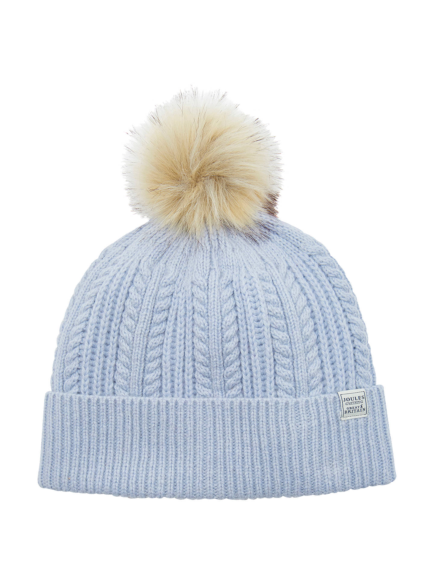bf978ad5b7453 Joules Bobble Lambswool Blend Bobble Hat at John Lewis   Partners