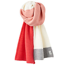 Buy Joules Annis Colour Block Scarf, Multi Online at johnlewis.com
