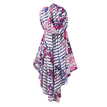 Buy Joules Wensley Stripe and Floral Print Scarf, Multi Online at johnlewis.com