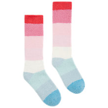 Buy Joules Fab Fluffy Ombre Stripe Knee High Socks, Multi Online at johnlewis.com