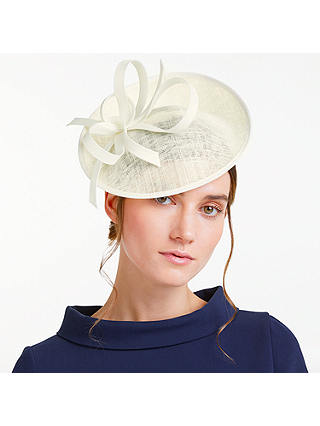 Buy John Lewis & Partners Bea Disc and Quill Occasion Hat, Ivory Online at johnlewis.com