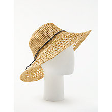Buy John Lewis Packable Glam Crochet Floppy Hat, Natural Online at johnlewis.com
