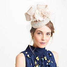 Buy John Lewis Lee Pillbox Fascinator, Champagne/Blush Online at johnlewis.com