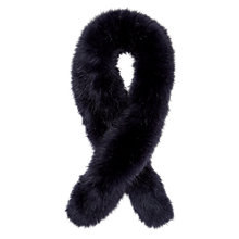 Buy Jigsaw Children's Faux Fur Scarf, Navy Online at johnlewis.com