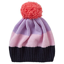 Buy Jigsaw Children's Colour Block Hat, Purple/Pink Online at johnlewis.com