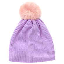 Buy Jigsaw Children's Faux Fur Pom Pom Hat Online at johnlewis.com