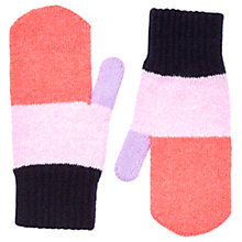 Buy Jigsaw Children's Colour Block Gloves, Pink/Multi Online at johnlewis.com