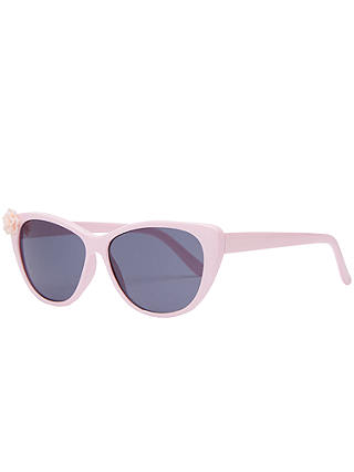 Buy John Lewis & Partners Children's Flower Cats Eye Sunglasses, Pink Online at johnlewis.com
