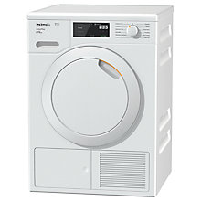 Buy Miele TCE520WP Freestanding Heat Pump Tumble Dryer, 8kg Load, A+++ Energy Rating, White Online at johnlewis.com