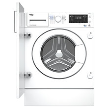 Buy Beko WDIY854310 Integrated Washer Dryer, 8kg Wash/5kg Dry Load, A Energy Rating, 1400rpm Spin, White Online at johnlewis.com