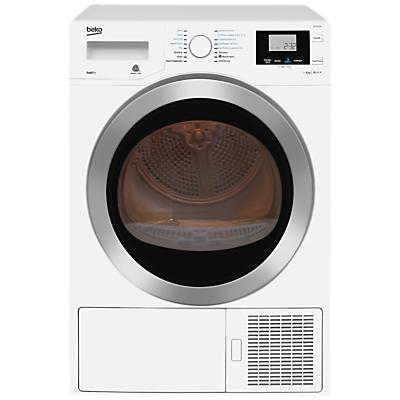 Beko DPH8756W Heat Pump Tumble Dryer, 8kg Load, A+++ Energy Rating, White