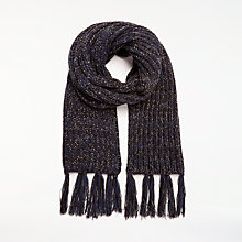 Buy Great Plains Midnight Sparkle Scarf, Classic Navy/Black Online at johnlewis.com