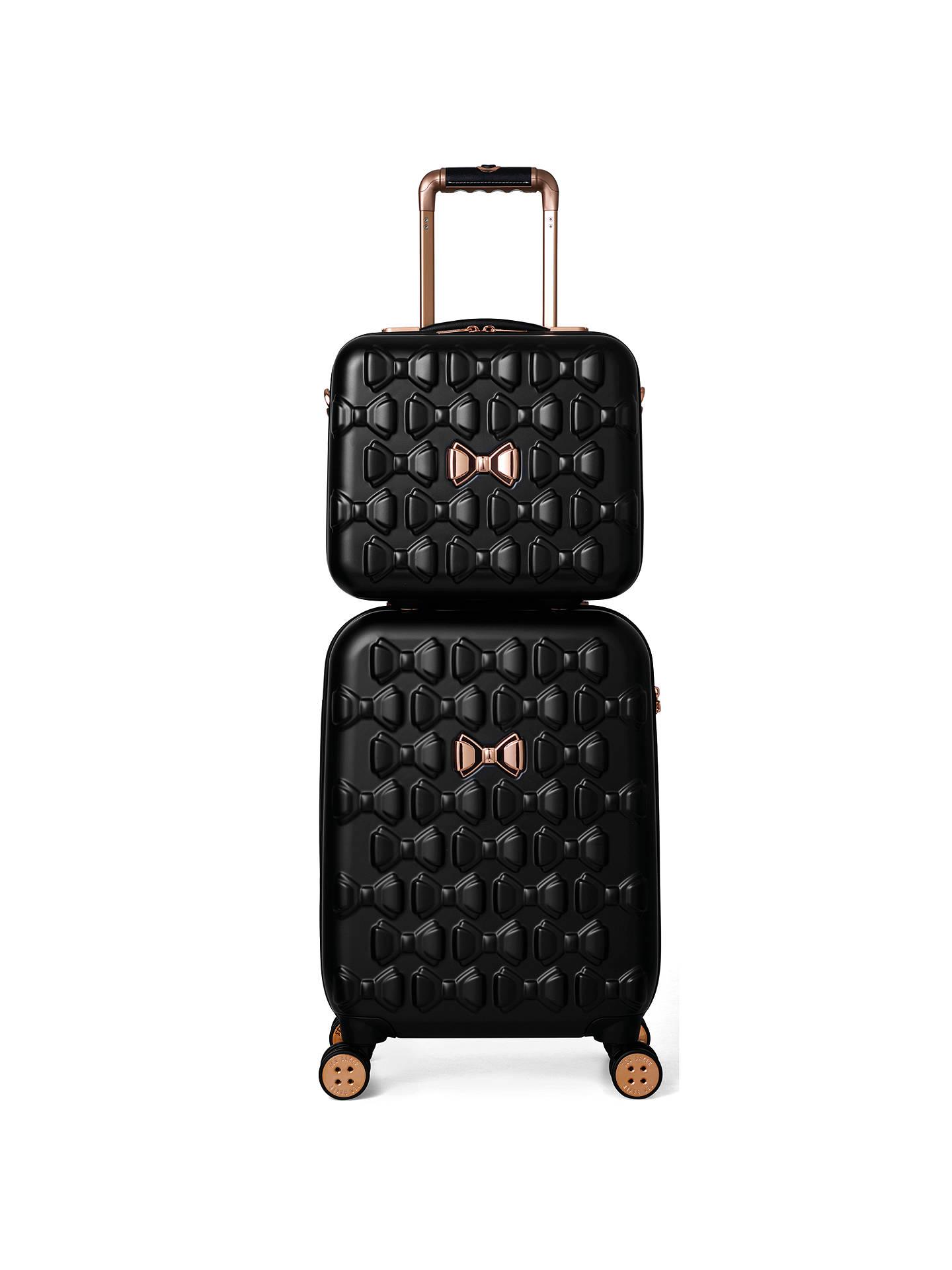 b74d50aabe Buy Ted Baker Beau 54cm 4-Wheel Cabin Suitcase, Black Online at johnlewis.