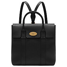 Buy Mulberry Bayswater Small Classic Grain Leather Backpack, Black Online at johnlewis.com