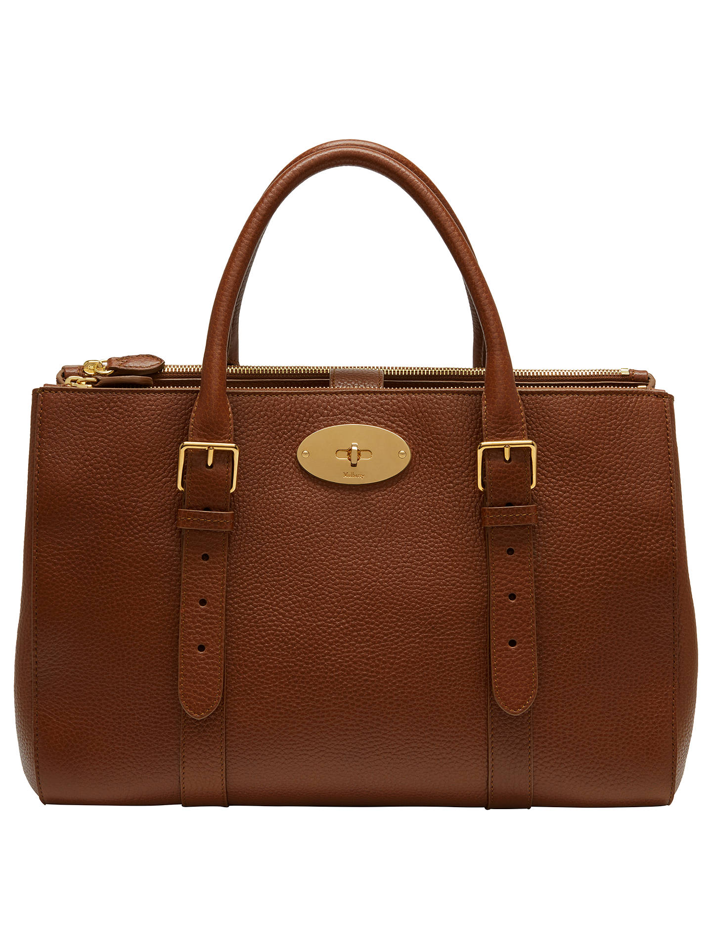 d5d9c1c40e1e Mulberry Bayswater Leather Large Double Zip Tote Bag at John Lewis ...
