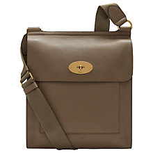 Buy Mulberry Antony Leather Messenger Satchel Bag Online at johnlewis.com
