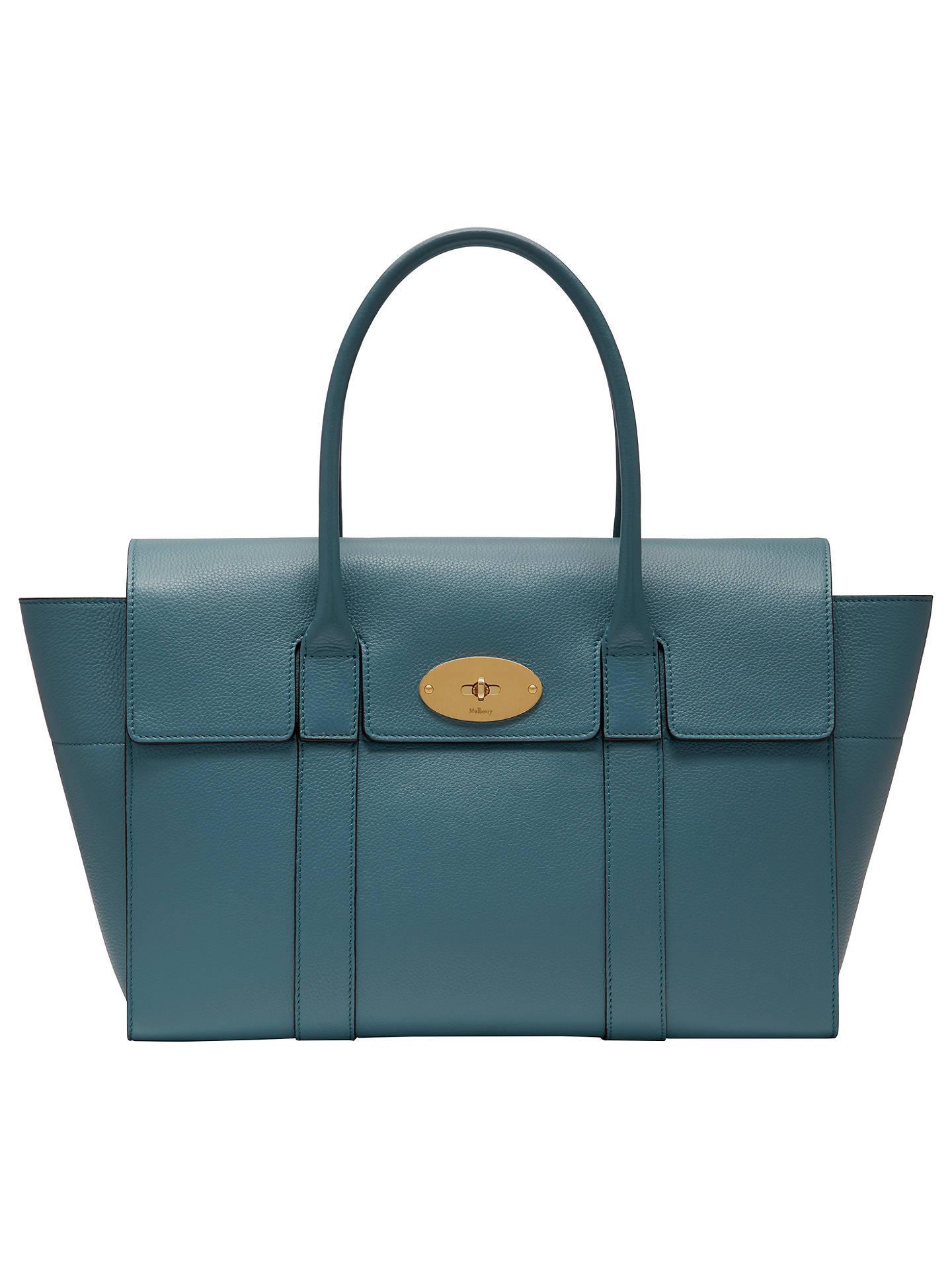 75a9e2309d7 Buy Mulberry Bayswater Grain Veg Tan Leather Bag, Dark Frozen Online at  johnlewis.com ...