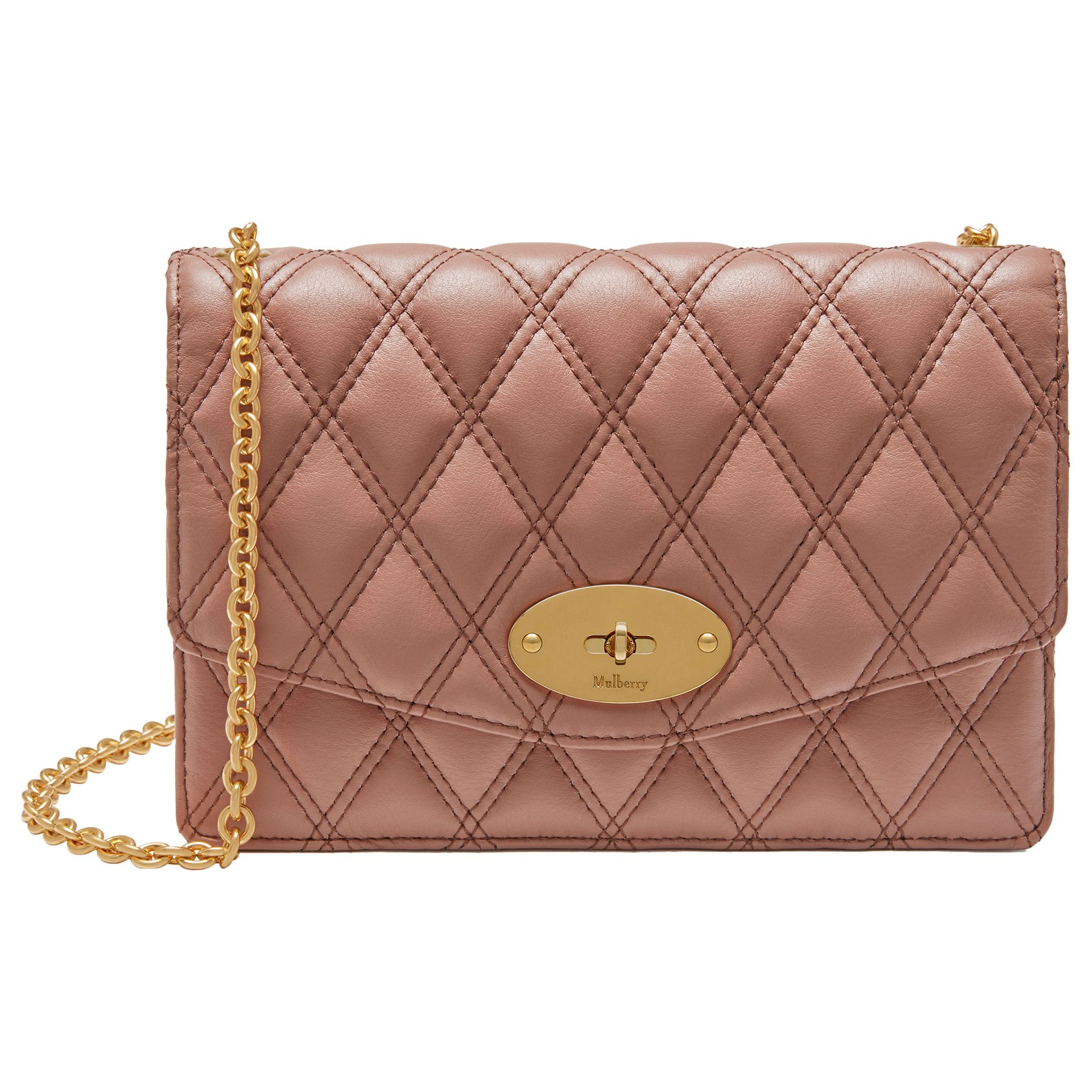 6d6bbe030586 Mulberry Darley Quilted Grain Veg Tan Leather Bag