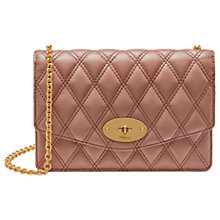 Buy Mulberry Darley Quilted Grain Veg Tan Leather Bag, Dark Blush Online at johnlewis.com