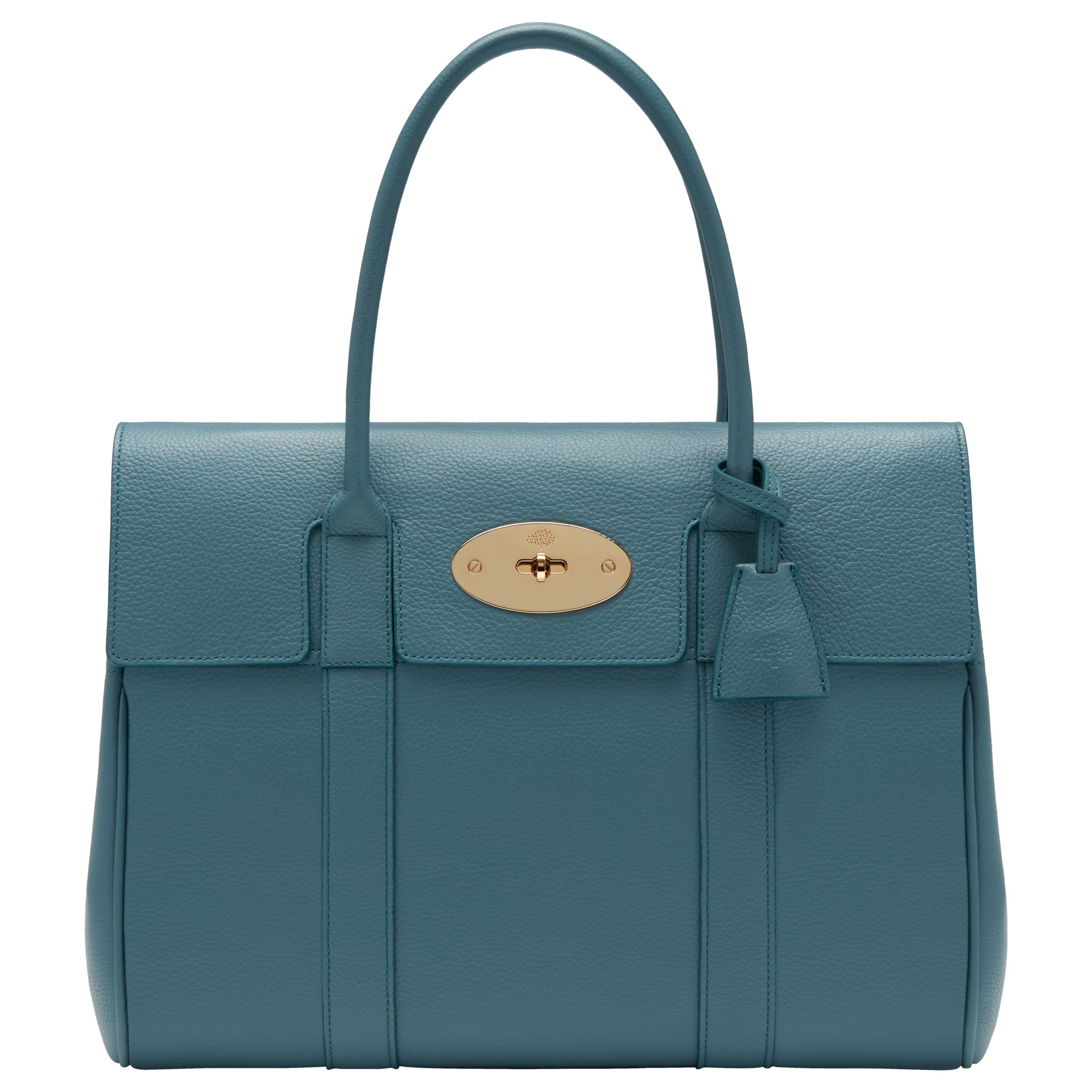 79506e1b22d ... uk mulberry bayswater small classic grain leather grab bag dark frozen  at john lewis partners d3b77