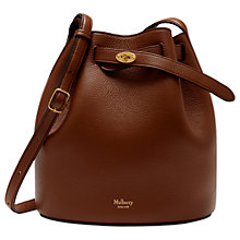 Buy Mulberry Abbey Natural Grain Leather Bucket Bag, Oak Online at johnlewis.com