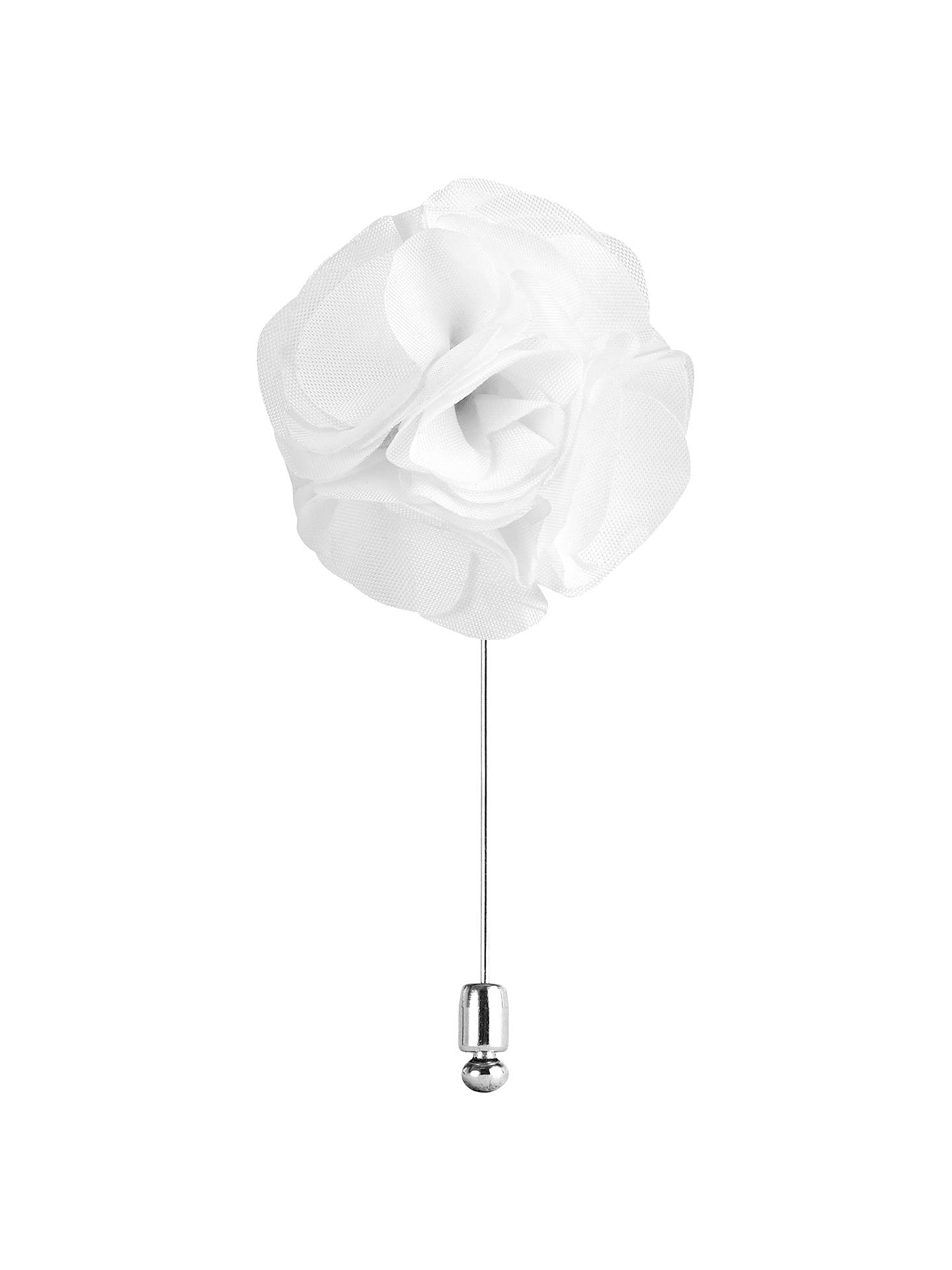 Buy Reiss Piani Flower Dress Pin, White Online at johnlewis.com