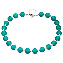 Buy Martick Round Murano Glass Bead Necklace, Green Online at johnlewis.com