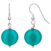 Buy Martick Round Murano Glass Drop Earrings, Sea Green Online at johnlewis.com