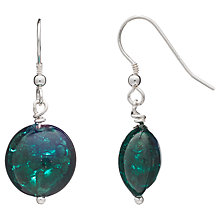 Buy Martick Round Murano Glass Drop Earrings, Green Online at johnlewis.com