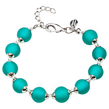 Buy Martick Round Murano Glass Bead Bracelet, Green Online at johnlewis.com