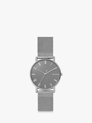 Skagen SKW6428 Men's Signatur Bracelet Strap Watch, Silver/Grey