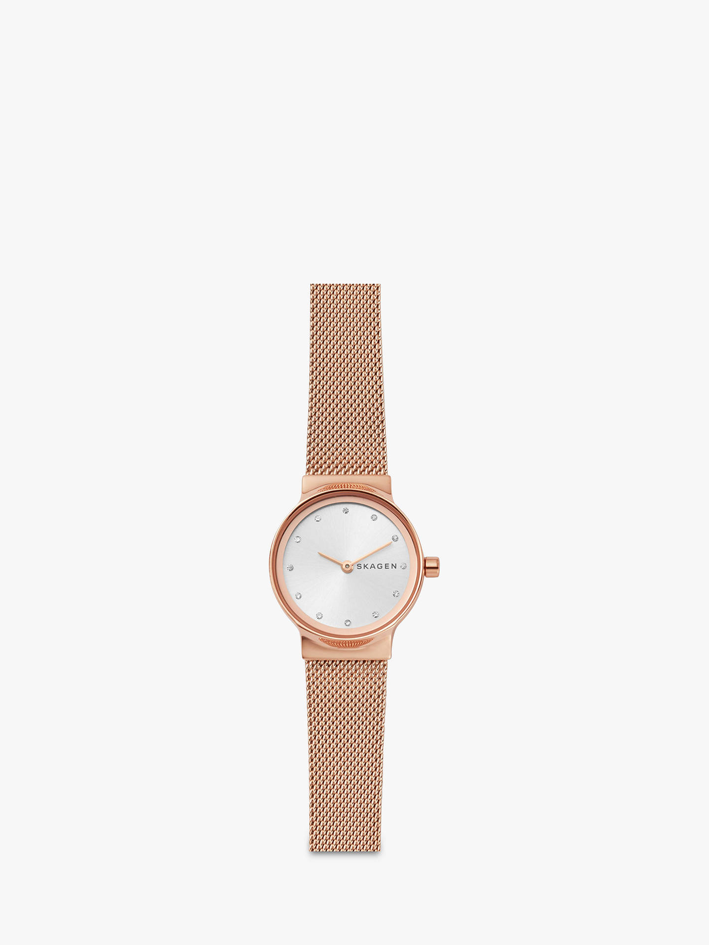 BuySkagen Women's Freja Bracelet Strap Watch, Rose Gold/Silver SKW2665 Online at johnlewis.com