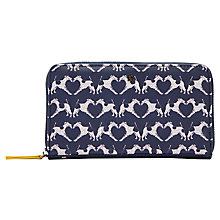 Buy Joules Fairford Geo Fox Terrier Purse, Navy/White Online at johnlewis.com