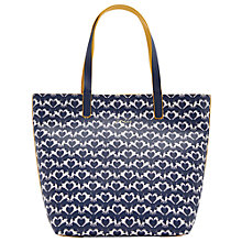 Buy Joules Revery Geo Fox Terrier Reversible Tote Bag, Navy/White Online at johnlewis.com