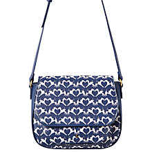 Buy Joules Darby Geo Fox Terrier Shoulder Bag, Navy/White Online at johnlewis.com