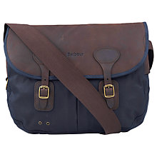 Buy Barbour Wax Cotton Tarras Messenger, Navy Online at johnlewis.com