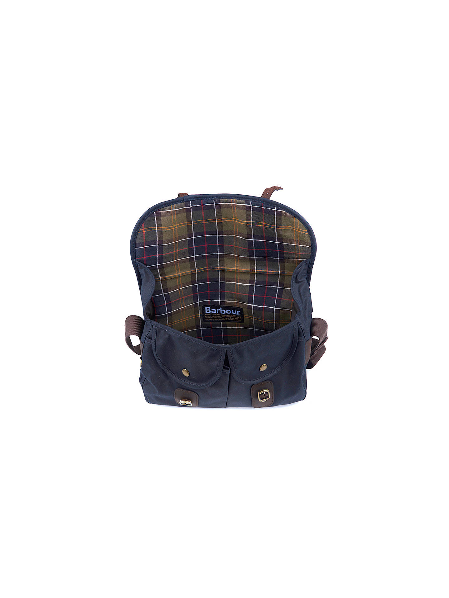 BuyBarbour Wax Cotton Tarras Messenger, Navy Online at johnlewis.com