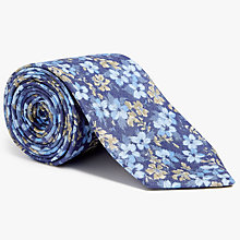 Buy John Lewis Woven in Italy Floral Linen Tie, Blue Online at johnlewis.com